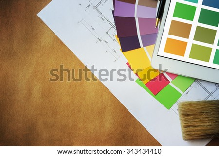 Color palette guide - stock photo