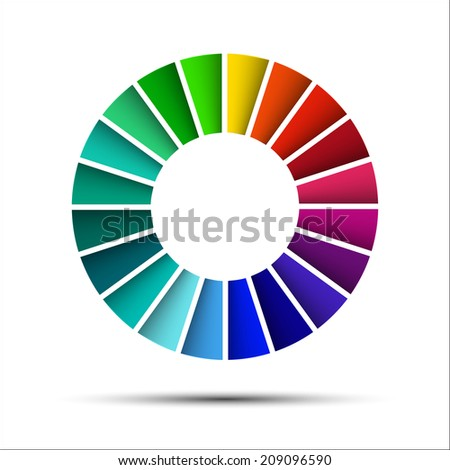 Color palette isolated on white background (Vector version is also available in my portfolio, ID 178099064) - stock photo
