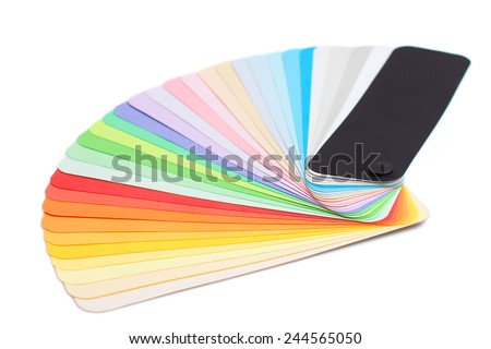 Color palette isolated on white stock image. A colour sample guide. Color variations - stock photo