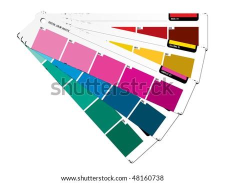 Color palette purple - stock photo