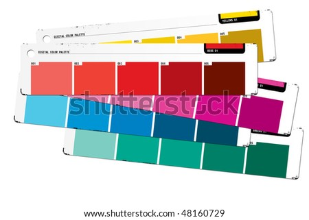 Color palette red - stock photo