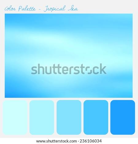 Color palette - Tropical Sea - stock photo