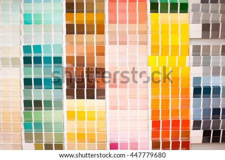 Color palette with big spectrum of colors, stock picture - stock photo