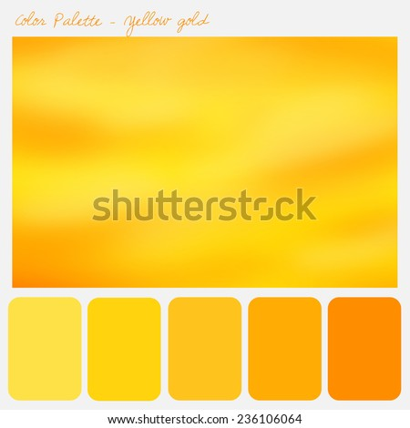 Color palette - Yellow gold - stock photo