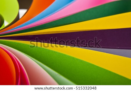 color paper as a background close-up