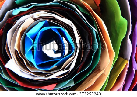 color paper roll as very nice rainbow background - stock photo