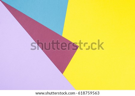 Color Papers Geometry Flat Composition Background Stock Photo (Edit ...