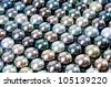 color pearls, realistic - stock photo
