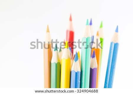 color pencil idea - stock photo