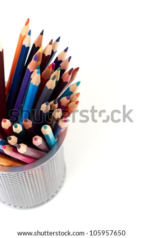 color pencil isolated on a white background