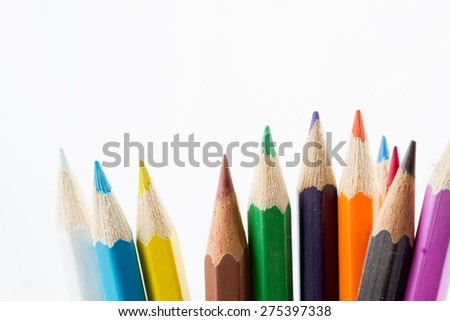 Color Pencil, isolated on white background - stock photo