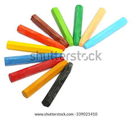 Color pencil over white background - stock photo