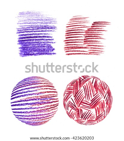 Color pencil  stroke abstract hand drawn bright colorful pink purple red background pattern