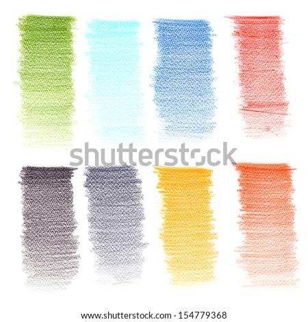 Color pencil texture - stock photo