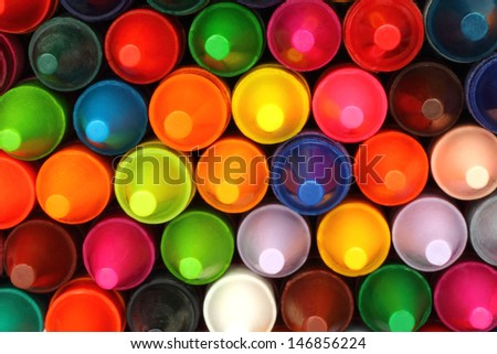 Color pencils background close-up  - stock photo