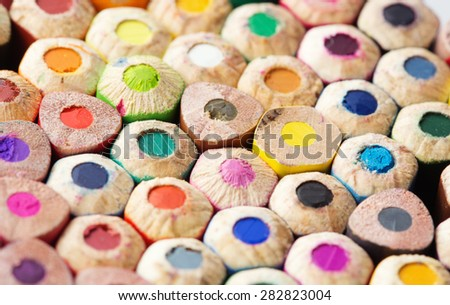 Color pencils close-up photo - stock photo
