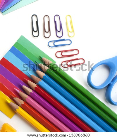 Color pencils. Education background. - stock photo