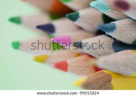 color pencils. small DOF - stock photo