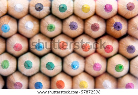 Color pencils. Texture or background - stock photo