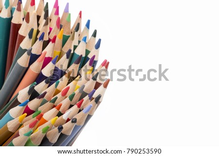 Color pencils white background