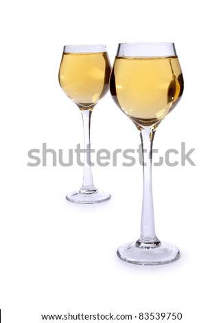 Color photo of a glass of wine glasses