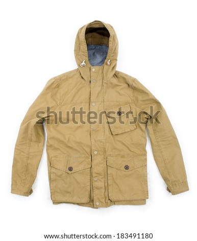 Color photo of an military jacket on a white background - stock photo