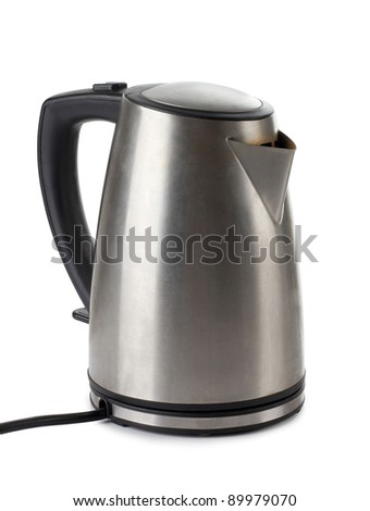 Color photo of metal kettle