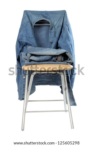 Color photo of workwear denim - stock photo