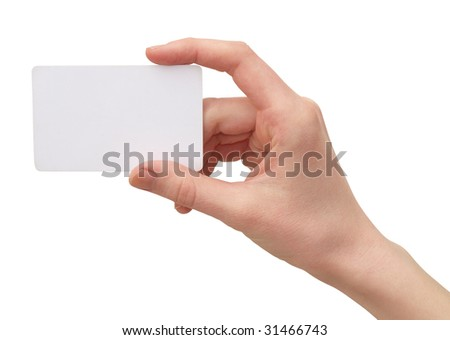 Color photograph of women's hands with a credit card