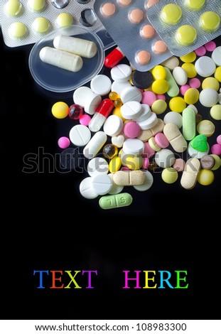color pills - stock photo