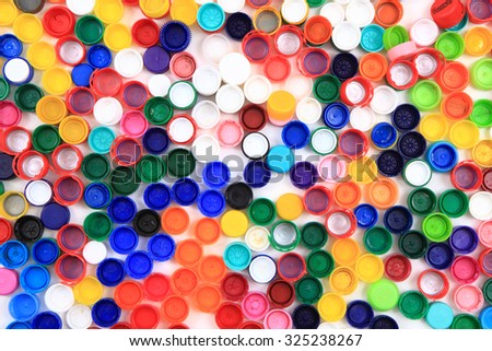 color plastic caps as very nice background