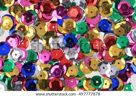 color plastic confetti texture as very nice background