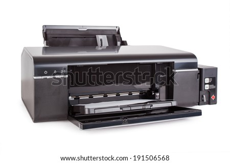 Color Printer. Isolated