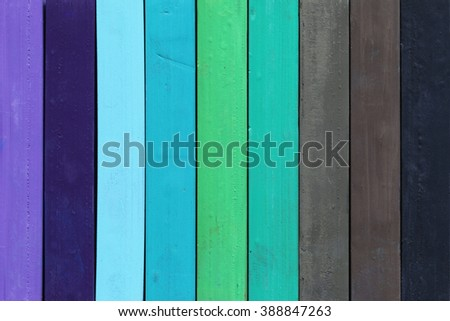Color range, macro, detail of the colored pastels, cold colors