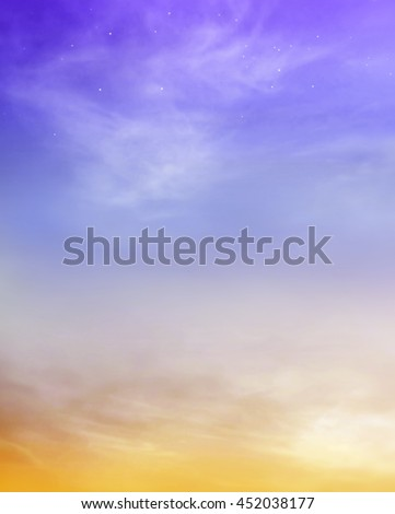 Color romantic sky background