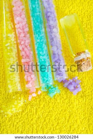 color salt - stock photo