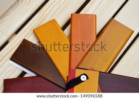 Color sampler of wood - stock photo