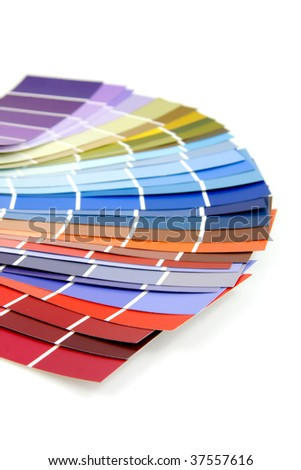 Color samples for painting over white background - stock photo