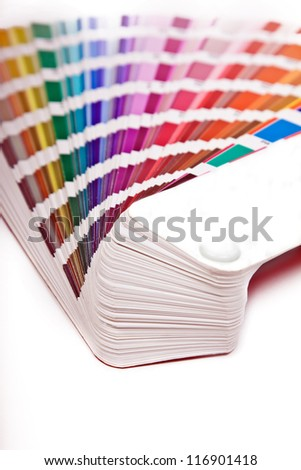 color scale isolated on white background - stock photo