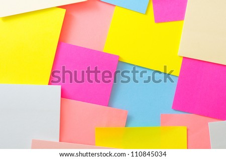 color sheets for note - stock photo