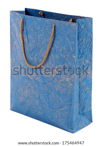 Color shopping bag, isolated on white