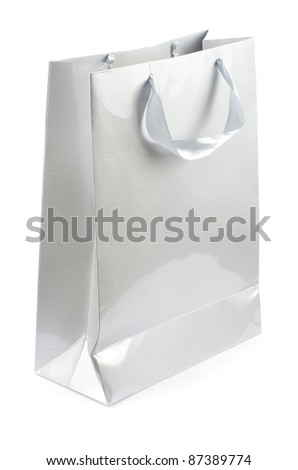 color shopping bag isolated on white background