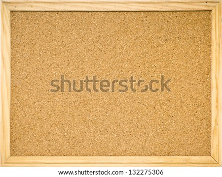 Color Shot Brown Cork Board Frame Foto de stock (libre de regalías ...