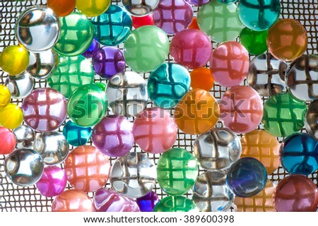 color silicone balls on a metal grid