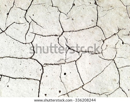Color skin on the road with large cracks and texture
