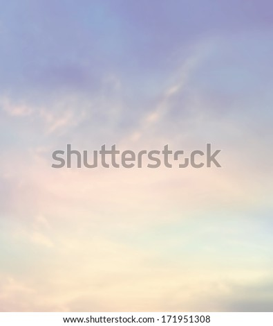 Color sky with clouds, background - stock photo