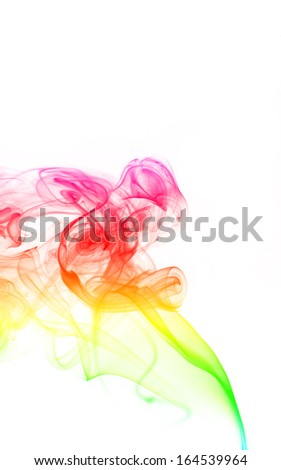 color smoke isolated on a white background