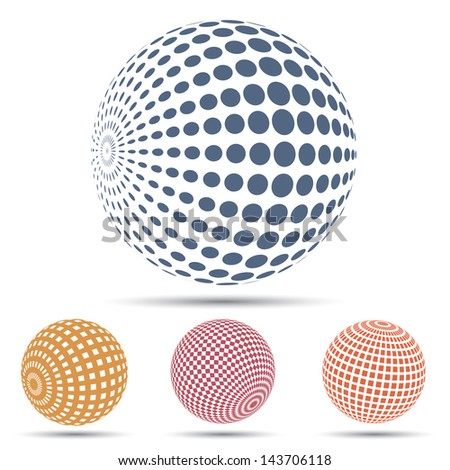 Color spheres set (raster copy of vector illustration)