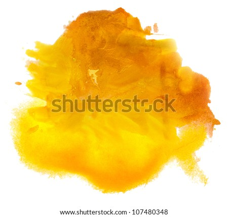 color spot yellow brown light desert macro blotch texture isolated white background - stock photo