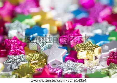 Color stars - stock photo